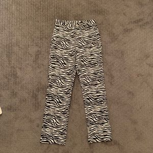 zebra print pants